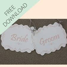 Bride And Groom Chair Signs Bride And Groom Mr And Mrs Wedding Chair Signs Free Printable