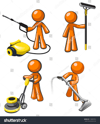 Picture Of Floor Buffer by Cleaning Services Set Illustrations Janitorial Professionals Stock