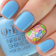 Baby Nail Art Design 50 Blue Nail Art Designs Art And Design