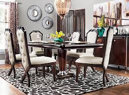 raymour and flanigan dining room sets valentina 7 pc dining set ivory merlot raymour flanigan