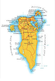 map of bahrain bahrain map mappery