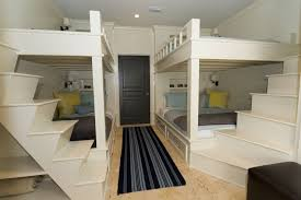 Bunk Bed Nook With Blue Bunk Beds Contemporary Boys Room - Mini bunk beds