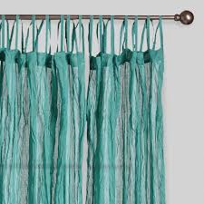 Turquoise And Grey Curtains Blue Crinkle Voile Cotton Curtains Set Of 2 World Market