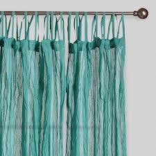 Cotton Drapes Blue Crinkle Voile Cotton Curtains Set Of 2 World Market