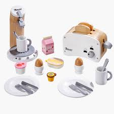 zubehör für kinderküche spielküchen zubehör frühstücksset weiss aus holz howa spielwaren