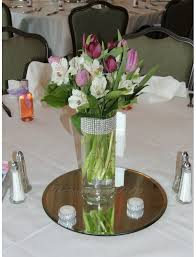 Silver Centerpieces Glass Cylinder Vases Bling Wedding Centerpieces Silver Rhinesto