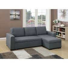 Sleeper Chaise Sofa Sleeper Sectional Sofas You U0027ll Love Wayfair