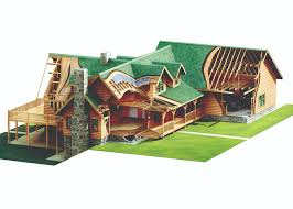 Log Home Design Plans by Clear Creek Log Home Package Special Offer