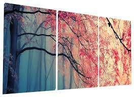 Bedroom Wall Art Sets Amazon Com Gardenia Art Red Maples Canvas Prints Wall Art