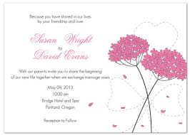 Marriage Invitation Sample Coprinted Blog Spring U0026 Pink Wedding Invitations
