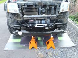 nissan frontier winch bumper done u003e winch mount in stock bumper pic heavy update 6 20 11