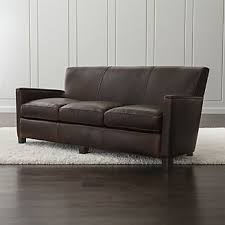 Leather Sofa And Armchair Leather Sofas U0026 Chairs Crate And Barrel
