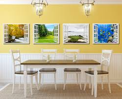 vancouver canada golf course view picture window wall art home vancouver canada golf course view picture french window framed canvas print home decor wall art collection