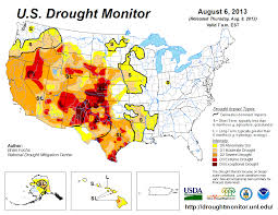 Puerto Rico Map United States by August 2013 Drought And Impact Summary