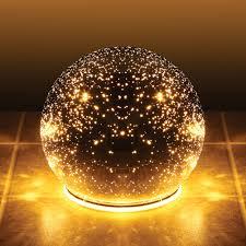 mercury glass ball lights lighted mercury glass sphere gazing ball battery powered walmart com