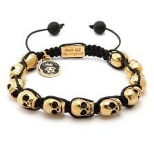 bracelet gold skull images King ice 14k gold skull adjustable bracelet kingice jpeg