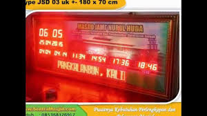 membuat jam digital led besar daftar harga jam digital masjid jadwal sholat digital abadi