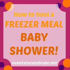 meal baby shower events to celebrate