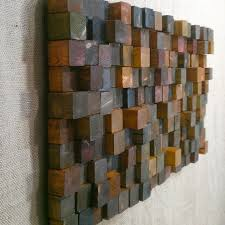 wood wall sculptures wall sculpture scavenger wood cubes by orangutate on etsy