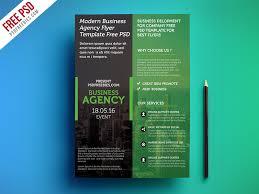 freebie modern business agency flyer template free psd free