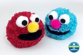 sesame muppet pom pom crafts for pbs parents