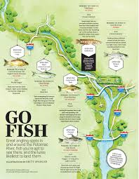 Potomac River On Map Fish Tales A Father And Son Fish The Waterways That Flow Through