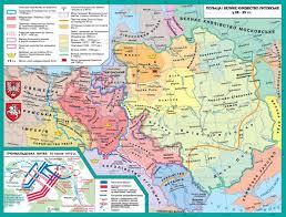 Map Of Lithuania Polish Kingdom And Grand Duchy Of Lithuania World History