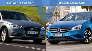 a3 mercedes audi a3 1 8 ambition vs mercedes a200 review carsguide