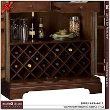 Wine Bar Cabinet 695114 Howard Miller Wine Bar Cabinet Cherry Finish 22 Wine Bottles