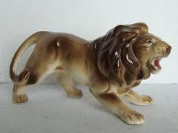 lion figurine vintage japan lion figurine 6 75 vintage lion figurines