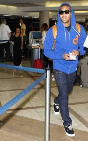 chris brown in diamond supply co un polo zip up hoodie and mcm
