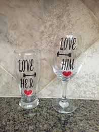 his hers wine glasses his and hers wine glass and mug by robynsvinylcreations