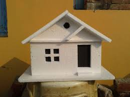 House Models by How To Make A Simple Thermocol Model House Thermocol Crafts Youtube