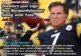 Ravens Steelers Memes - steelers sign ron burgundy by black animation net on deviantart