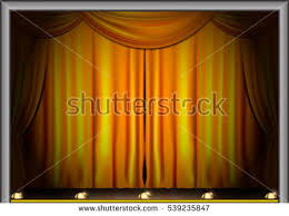 Stage With Curtains Old Fashioned Elegant Theater Stage Gold Stock Photo 2454214