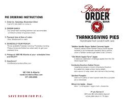 thanksgiving pie orders portland oregon pie random order