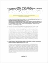 objectives of financial statement analysis ch12 chapter 12 financial statement analysis summary of this is the end of the preview sign up to access the rest of the document unformatted text preview chapter 12 financial statement analysis