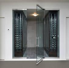 frameless glass exterior doors frameless wine room glass doors