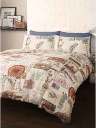 themed duvet cover bedding travel around the world king size duvet cover set room