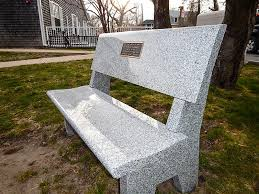 Vineyard Bench Vandalized Vineyard Haven Library Memorial Bench Is Replaced The