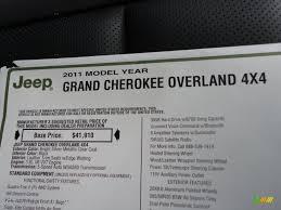 jeep grand cherokee stickers 2011 jeep grand cherokee overland 4x4 window sticker photo 42952607