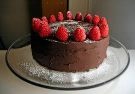 chocolate cake with raspberry mascarpone filling and chocolate