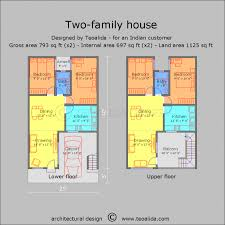 House Plans For Two Families Awesome Picture Of Two Family House Plans Selman Duplex Family