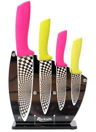 ceramic kitchen knives pink and lime green ceramic knife set rocknife ceramic knives