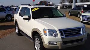 Ford Explorer White - 2010 ford explorer eddie bauer white suede youtube