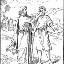 Blind Bartimaeus In The Bible Jesus Heals Blind Bartimaeus Coloring Page Free Printable