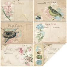 bo bunny garden journal collection post card paper
