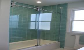 Bathroom Glass Tile Designs by Green Subway Tile Backsplash Zamp Co