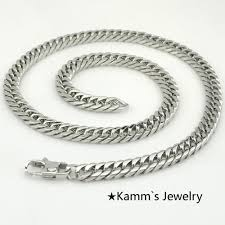2015 men s jewelry 8mm 60cm new arrival power necklaces amumiu top quality 7mm gold chain heavy rope stainless