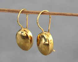 gold drop earrings gold drop earrings etsy